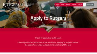 Apply to Rutgers | Undergraduate Admissions | Rutgers University