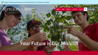 Undergraduate Admissions | Rutgers University