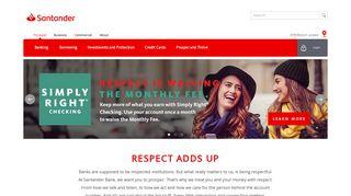 Santander Bank: Online Bank Account   Personal Banking
