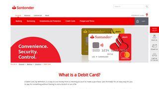 Debit Cards   Santander Bank