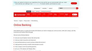 Online Banking   Santander UK