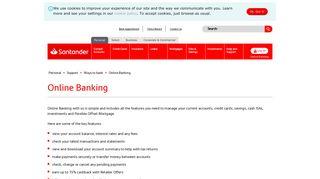 Online Banking - Santander UK