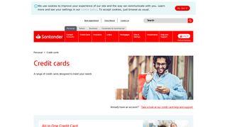 Credit cards   Santander UK