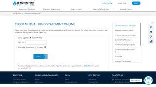 Check Mutual Fund Statement Online | SBI Mutual Fund