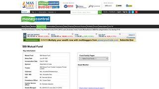 SBI Mutual Fund - Moneycontrol
