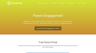Parent Engagement - ScootPad: Delivering personalized, mastery ...
