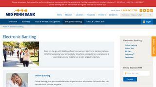 Online & Mobile Banking in Pennsylvania   Mid Penn Bank