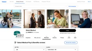 Working at Select Medical: Employee Reviews about Pay & Benefits ...