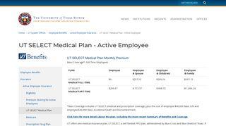 UT SELECT Medical Plan - Active Employee | University of Texas ...