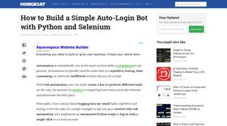 How to Build a Simple Auto-Login Bot with Python and Selenium ...