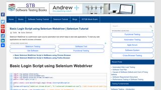 Basic Login Script using Selenium Webdriver | Selenium Tutorial ...