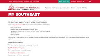 My Southeast - Southeast Missouri State University