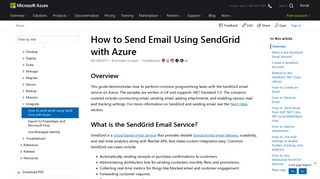 How to use the SendGrid email service (.NET)   Microsoft Docs