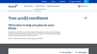 401 (k) enrollment | Sentry Insurance