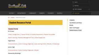 Student Resource Portal - Southeast Polk Community School District