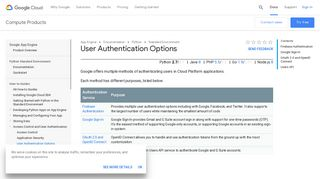 User Authentication Options | App Engine standard environment for ...