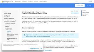 Authentication Overview | Authentication | Google Cloud