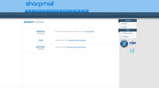 Support - Sharpmail