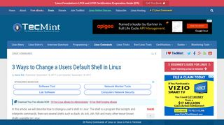 3 Ways to Change a Users Default Shell in Linux - Tecmint