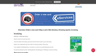 eServices - Check any invoice in seconds - EuroShell
