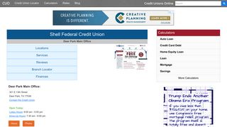 Shell Federal Credit Union - Deer Park, TX - Credit Unions Online