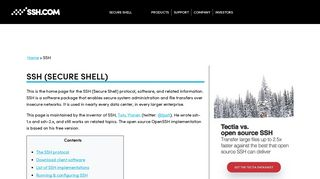 SSH (Secure Shell) Home Page | SSH.COM