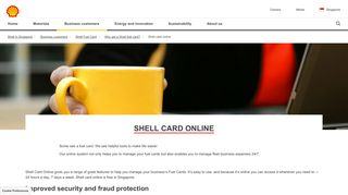 Shell card online | Shell Singapore