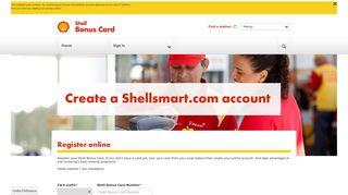 Register your Fuel Loyalty Card - Shell Bonus ... - CLUBSMART Online