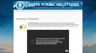The Shift Network   Center for Sacred Studies