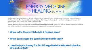Customer Support Center   Energy Medicine & Healing Summit 2018