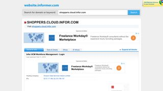 shoppers.cloud.infor.com at WI. Infor HCM Workforce Management ...