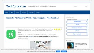 Shpock for PC / Windows 7/8/10 / Mac / Computer - Free Download ...