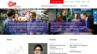 SIB Swiss Institute of Bioinformatics: Home page