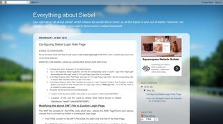 Everything about Siebel: Configuring Siebel Login Web Page