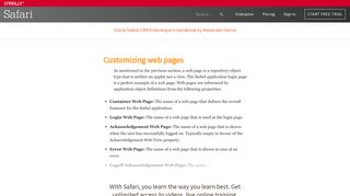 Customizing web pages - Oracle Siebel CRM 8 Developer's ...