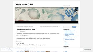 Changed logo on login page | Oracle Siebel CRM