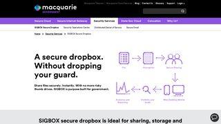 SIGBOX Secure Dropbox - Macquarie Government