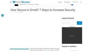 How Secure Is Gmail? 7 Ways to Increase Security - Top Ten Reviews