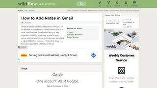 How to Add Notes in Gmail: 7 Steps (with Pictures) - wikiHow
