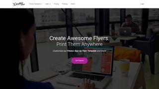 Fitness Sign Up Flyer Template   MyCreativeShop