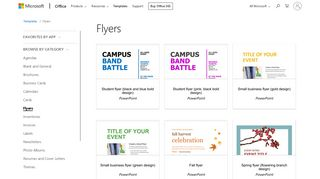 Flyers - Office.com - Office templates & themes - Office 365