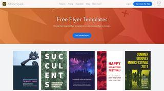 Free Flyer Templates   Adobe Spark