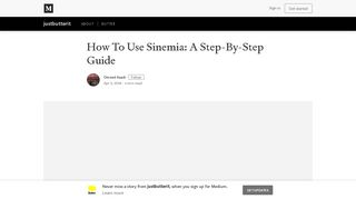 How To Use Sinemia: A Step-By-Step Guide – justbutterit – Medium