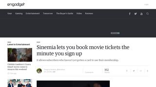 Sinemia lets you book movie tickets the minute you sign up - Engadget