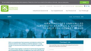 SIRA: National Fraud Database | Synectics Solutions