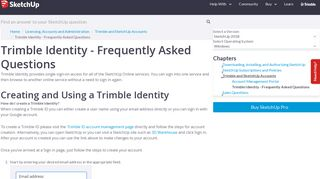 Trimble Identity - Frequently Asked Questions | SketchUp Help