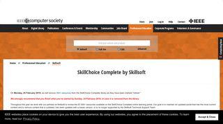 Skillsoft Learning Center • IEEE Computer Society