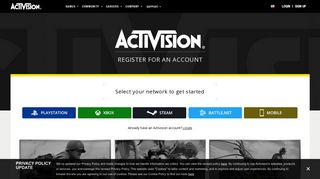 Sign Up - Activision Account