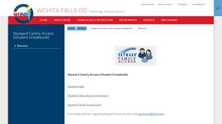 Skyward Family Access (Student Gradebook) - Wichita Falls ISD