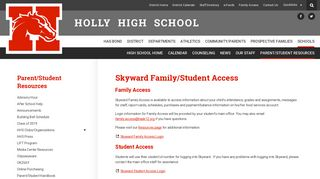 Skyward Family/Student Access - HHS Parent ... - Holly Area Schools